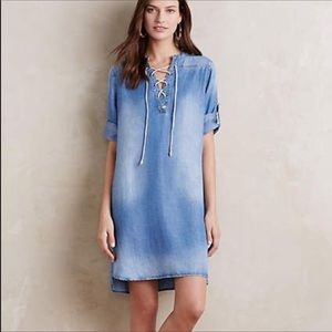 Anthropologie Cloth and Stone Chambray Tunic Dress